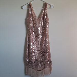Main Strip Vintage Style Dress